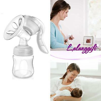 Portable Manual Breast Pump Kit Hand Breast Pump & Breast Milk Storage Bottle LG