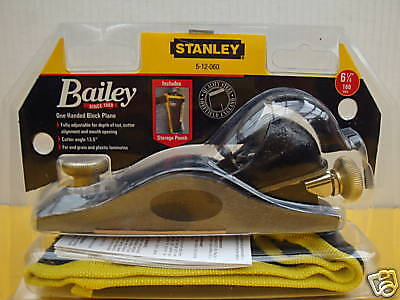 Stanley 601/2 Low Angle Block Plane With Pouch 5 12 060
