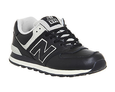 Mens New Balance 574 BLACK POWDER Trainers Shoes