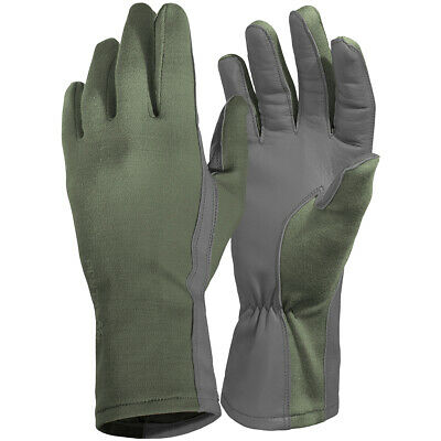 Pentagon Long Cuff Pilot Gloves Army Fire Resistant Protective Hand Wear Olive