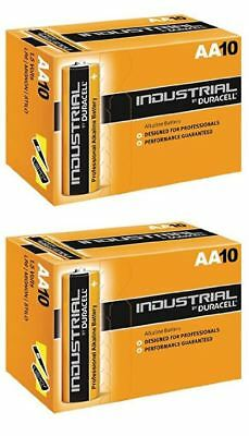 20 X Duracell AA Industrial Battery MN1500 Alkaline Replaces Procell Long Expiry