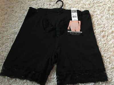 NWT 2 Pair Delta Burke Slimming Microfiber Long Leg Shaper Black /& White DB7631