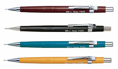 "Pentel P200 Series Mechanical Pencils - 0.3mm / 0.5 / 0.7 / 0.9mm - ""Set of 4"""