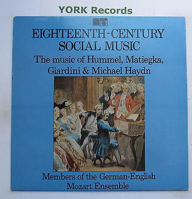 SAGA 5481 - EIGHTEENTH-CENTURY SOCIAL MUSIC - Excellent Condition LP Record