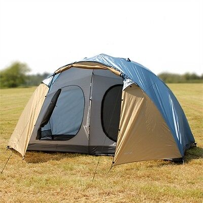 North Gear Camping Holiday Lux Waterproof 6 Man 2 Room Family Tent