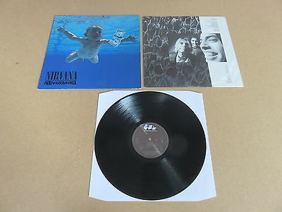 NIRVANA Nevermind GEFFEN LP RARE 1991 ORIGINAL GERMAN 1ST PRESSING GEF24425