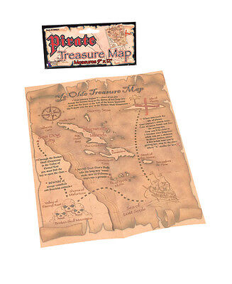 Pirate Treasure Map Party Bag Toy Prop Goonies Fancy Dress Accessory