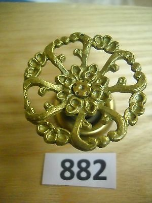 Antique Victorian Brass Knob Drawer Pull