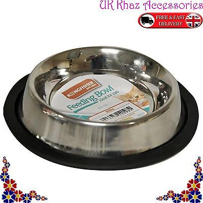 Non Slip 15 cm Stainless Steel Cat Puppy Dog Pet Bowl Dish Water Food Feeding