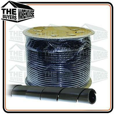 Black 10mm Outside Dia 10M Nylon Spiral Cable Wire Wrap Tube WS Australian
