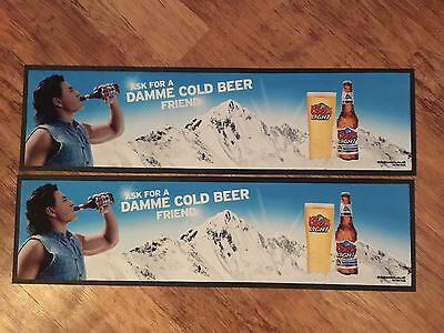 2x Coors Light Bar Runner Pub Shed Bar Man Cave