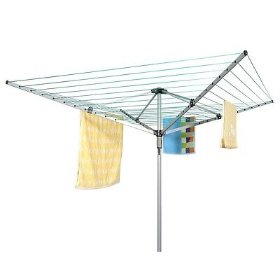 Homegear Outdoor 4 Arm 50m Rotary Clothes Airer Dryer / Washing Line