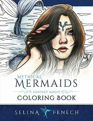 Mythical Mermaids - Fantasy Adult Coloring Book by Selina Fenech (Paperback) CXX