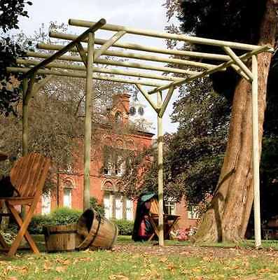 Pergola Garden Wooden Rustic Construction Structure Outdoor Patio Wood Arch