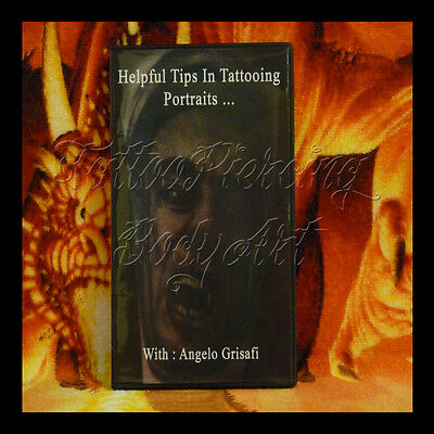 DVD Tattoo Techniques Pros : ANGELO GRISAFI HELPFUL TIPS IN TATTOOING PORTRAITS