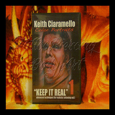 DVD Tatouage Tattoo Techniques KEITH CIARAMELLO KEEP IT REAL 1 COLOR PORTRAITS !