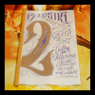 Sketchbook De Tatouage Tattoo : BJ BETTS - LETTERING GUIDE - VOLUME 2 - 23 Pages