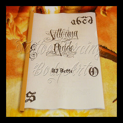 Sketchbook De Tatouage Tattoo : BJ BETTS - LETTERING GUIDE - VOLUME 1 - 21 Pages