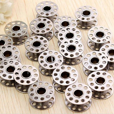 20 Pc Sewing Machine Bobbins Stainless Metal For Kenmore Viking Singer Practical