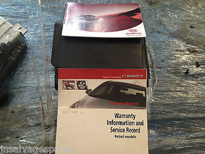 Kia Ceed Owners Manual Service History Hand Book Instruction Operation