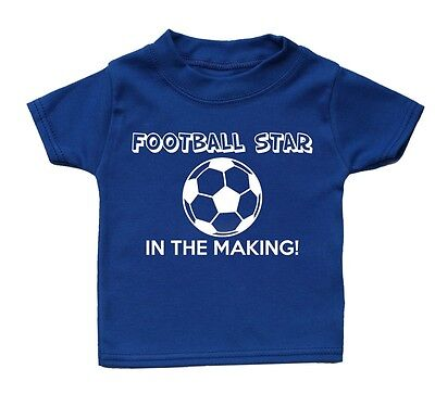 Football Star In The Making Baby T Shirt Gift Girl Boy Funny Present Kid Sport