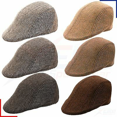 Mens Baker Boy Peaked NewsBoy Country Outdoors Golf Hat Retro Flat Cap