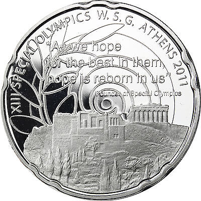 Griechenland 10 Euro Special Olymiade Athen Akropolis 2011 Silber PP