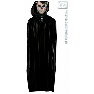 Black Long Hooded Cape for Grim Reaper Death Halloween Fancy Dress