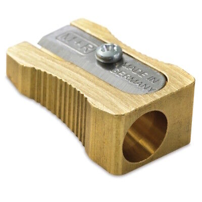 MOBIUS & RUPPERT SOLID BRASS PENCIL SHARPENER - Single Wedge