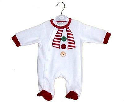 Baby Boy Girl Christmas All In One Velour Rompers - Christmas Outfit