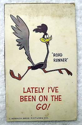 Postcard Road Runner Warner Brothers Cereal Box Cut Out #h7
