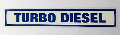 Turbo Diesel 10x Small Self Cling Reusable Car Sales Window Display Stickers