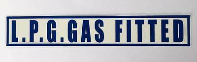 L.P.G Gas Fitted 10x Small Self Cling Reusable Car Sales Window Display Stickers