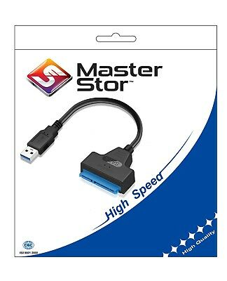 "MasterStor USB 3.0 to To SATA 2.5"" External  Adapter Cable For Hard Disk HDD SSD"