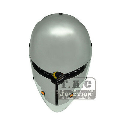 Tactical Airsoft Paintball Cosplay Wire Mesh Protection Full Face Mask -Gray Fox
