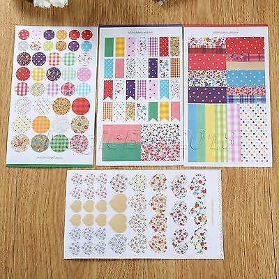4 Sheets Cute Stickers Diary Stationery Scrapbook Notebook Planner Craft Decor
