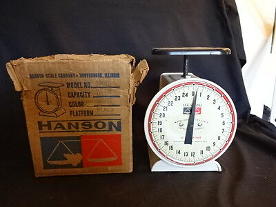 Old Vtg Hanson Model 2000 Utility Scale Capacity 25 Lbs With Original Box