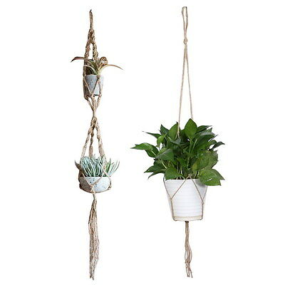 Macrame Plant Hanger Flowerpot Holder Gardenpot Lifting Rope Home Decor Garden A