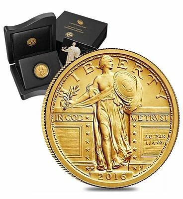 2016 W Standing Liberty Quarter Gold Centennial Commemorative Coin With Ogp