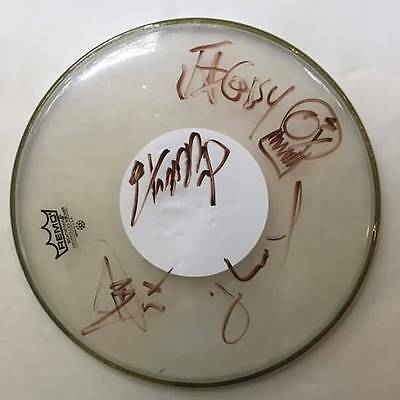 PAPA ROACH Signed Autographed Drum Head WHOLE BAND Authentic