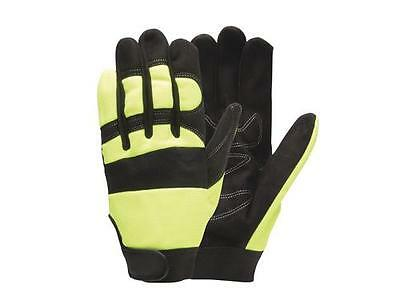 NEW Rugged Wear Safety Hi-Dexterity Work Gloves 1 Pair High Visibility or Black