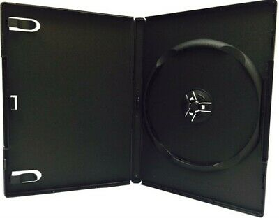 100 pcs New Single Black DVD CD Cases, Standard 14mm, hold 1 Disc, 4s
