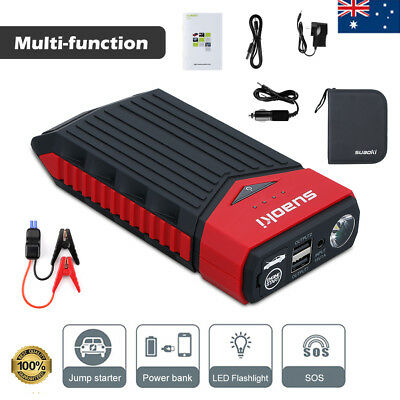 8000mAh Mini Portable Car Jump Starter Phone Power Bank Battery Charger SOS AU