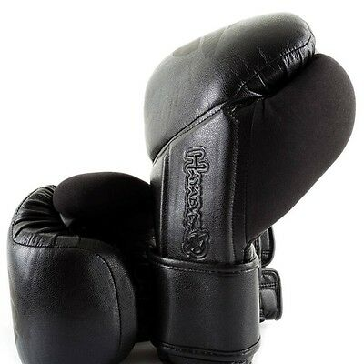 Hayabusa Leather Boxing Gloves Tokushu Regenesis Stealth Sparring Muay Thai 14oz