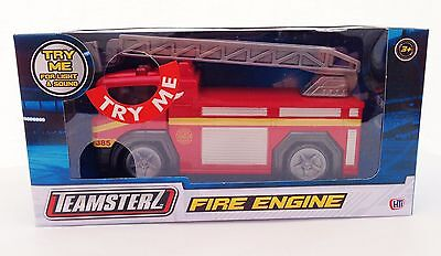 Teamsterz Fire Engine with Ladders Flashing Lights & Sounds Die-cast Kids Toy