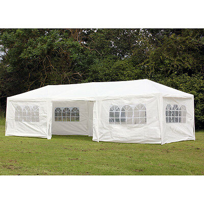 NEW PALM SPRINGS 10' x 30' (9m x 3m) GAZEBO MARQUEE PARTY TENT WITH SIDES
