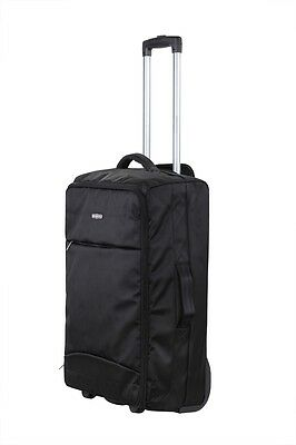 "Swiss Case 24"" Lightweight Folding Travel Suitcase Cabin Luggage Trolley Bag"