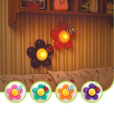 New Cute Kids Nursery Room Decor Bedside Flower LED Touch Lamp Night Light
