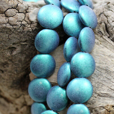 *PICK YOUR COLOR*  8pcs 14mm  Cushion Round Czech glass beads
