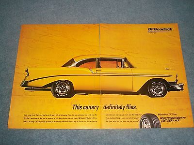 1993 BFGoodrich T/A Tires Vintage 2pg Ad with 1956 Chevy